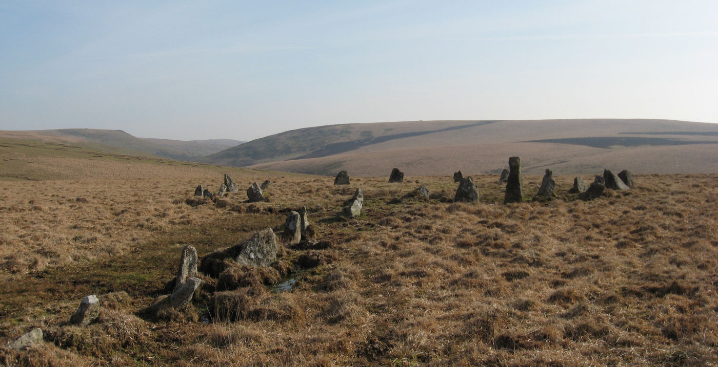 The Dancers Cairn Circle and Stall Moor (Upper Erme) Stone Row